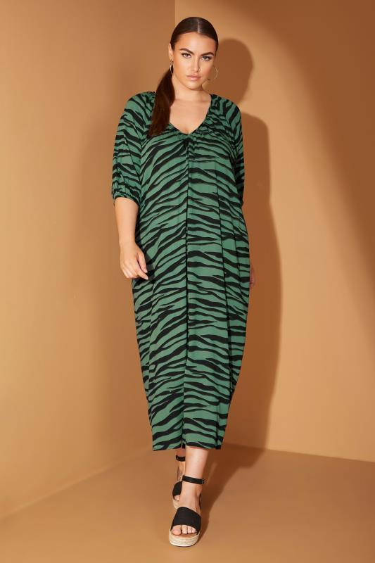 LIMITED COLLECTION Green Zebra Print Midaxi Dress_L.jpg