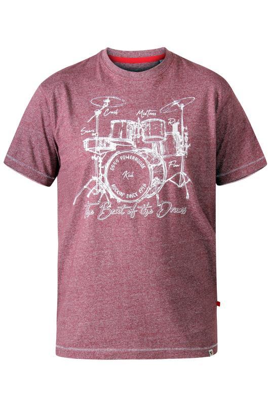 D555 Red Drum Set T-Shirt_f.jpg