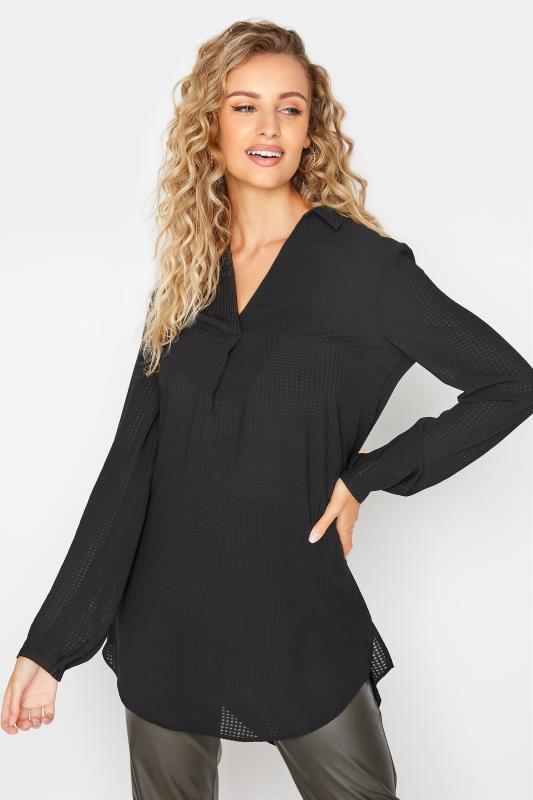 LTS Black Textured Overhead Shirt_A.jpg