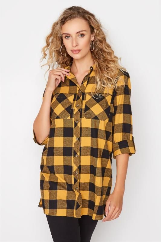 LTS Yellow Check Boyfriend Shirt_A.jpg
