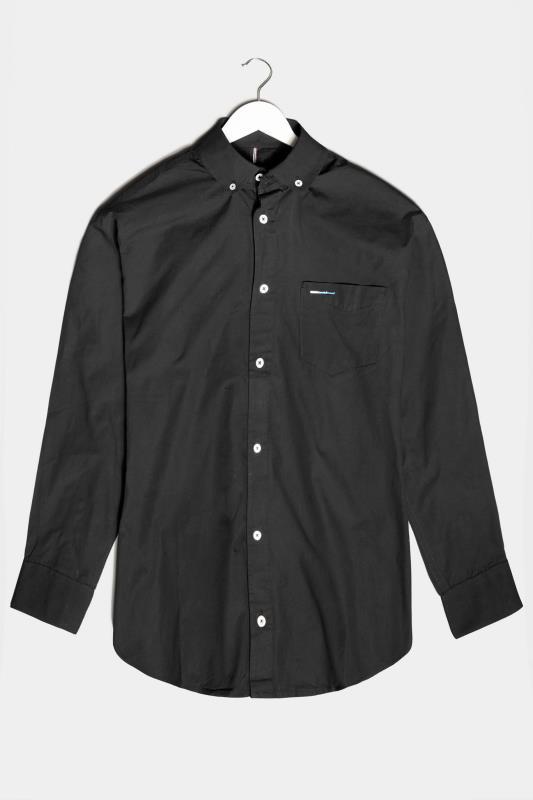 BadRhino Black Essential Long Sleeve Oxford Shirt_F.jpg