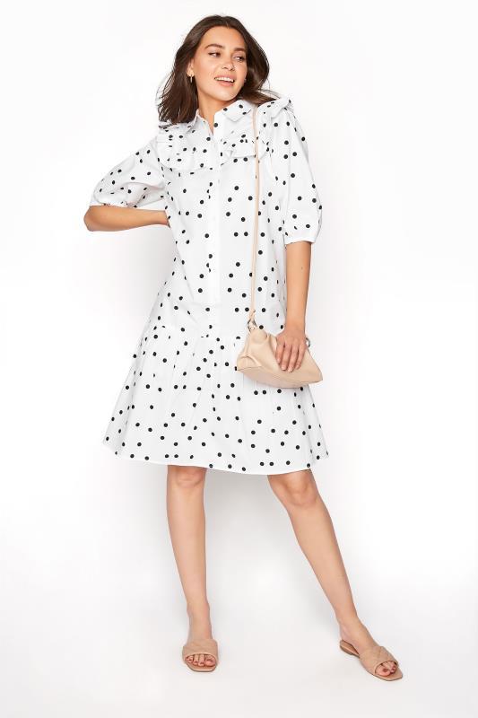 LTS White Polka Dot Puff Sleeve Dress_B.jpg