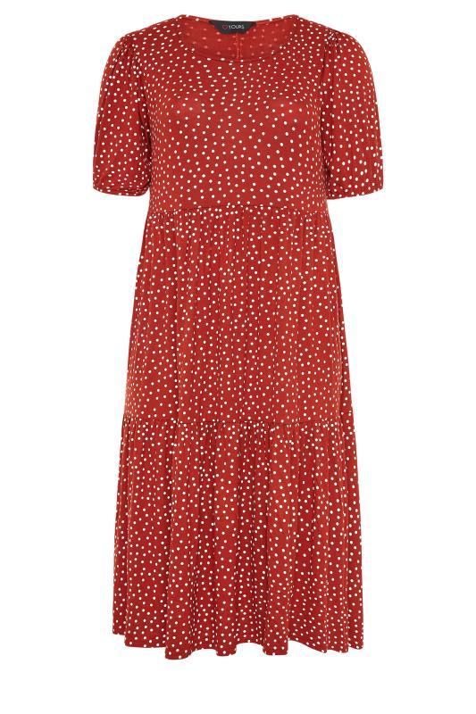 Rust Spot Print Puff Sleeve Midaxi Dress_F.jpg