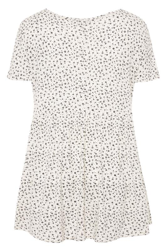 LIMITED COLLECTION Cream Ditsy Floral Peplum Top