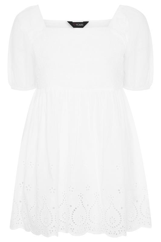 White Shirred Peplum Milkmaid Top_F.jpg