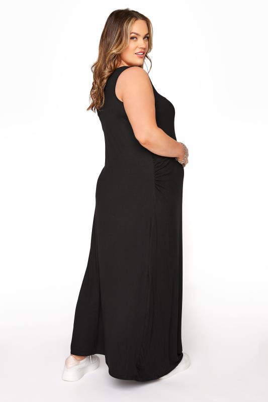 BUMP IT UP MATERNITY Black Sleeveless Maxi Dress_C.jpg