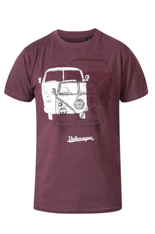 Men's  D555 Red Trio Campervan Printed T-Shirt