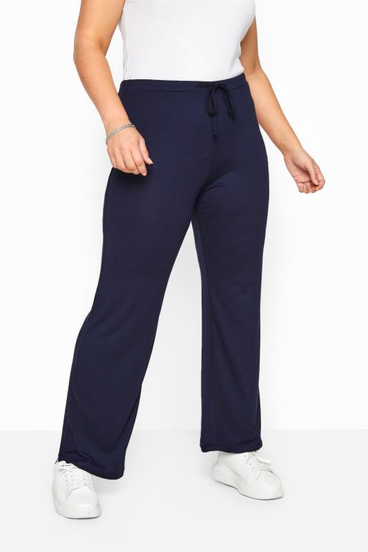 BESTSELLER Navy Wide Leg Pull On Stretch Jersey Yoga Pants_A.jpg