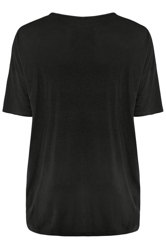 Slate Black Jersey Oversized T-Shirt