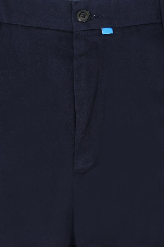 D555 Navy 4 Pocket Straight Leg Trousers - TALL