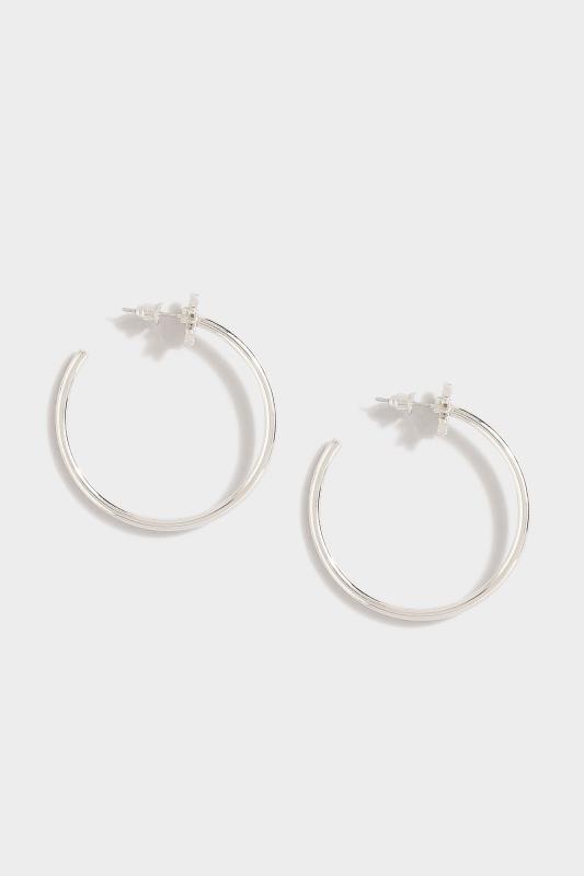 Silver Star Diamante Hoop Earrings_A.jpg