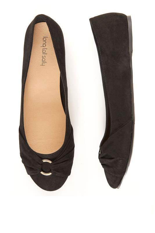 Black Kerry Ballerina Pumps