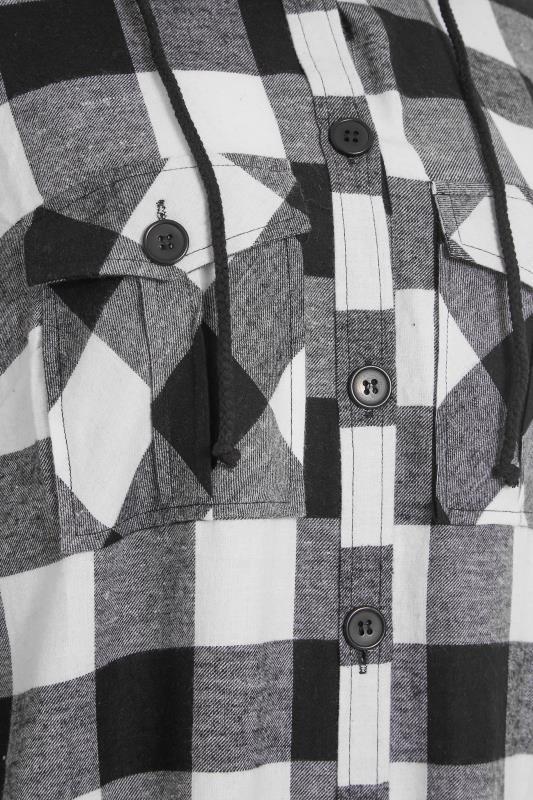 LTS Black Check Longline Hooded Shirt_S.jpg