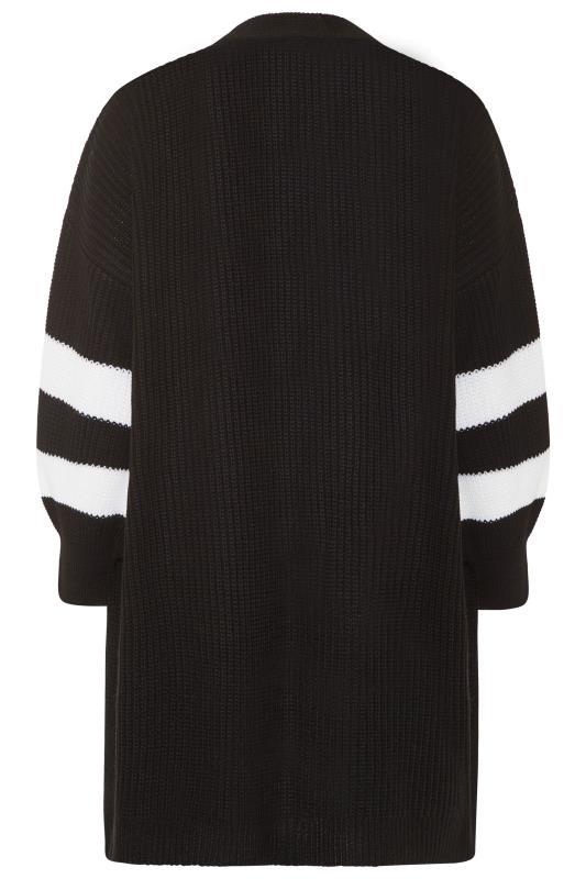Black Varsity Stripes Knitted Cardigan_BK.jpg