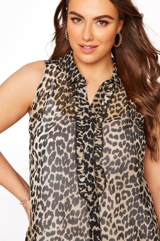 Leopard Print Frill Front Sleeveless Shirt_D.jpg