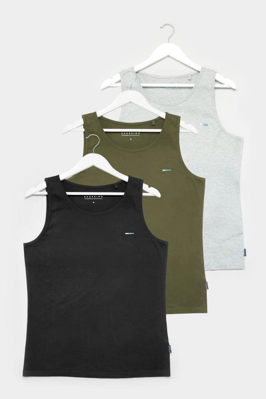 Men's  BadRhino Multi 3 Pack Plain Vest Tops