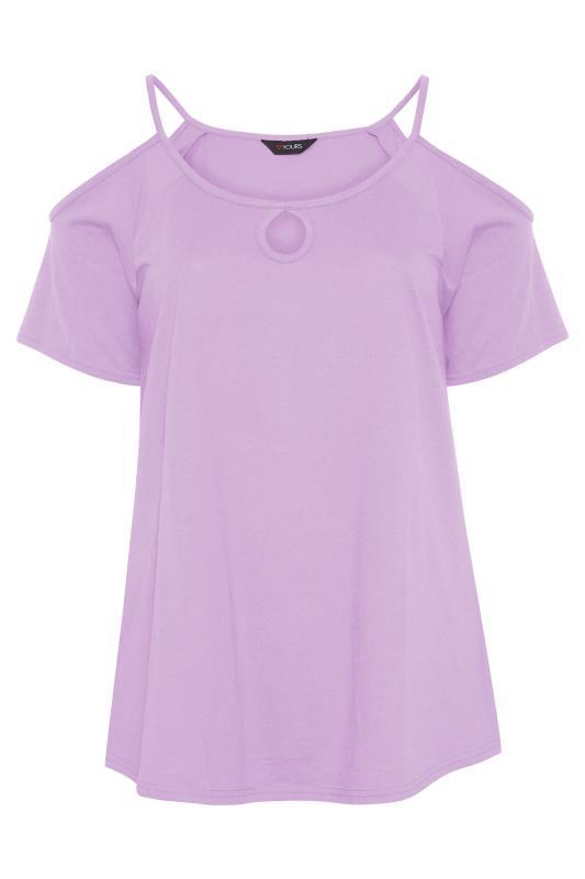 Lilac Strappy Cold Shoulder Top_F.jpg