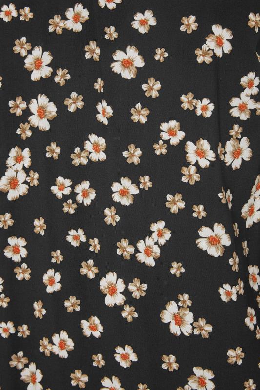 Black Daisy Print Tie Neck Blouse_S.jpg