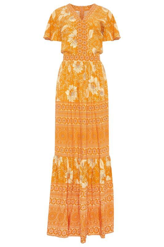 LTS Orange Floral Tiered Boho Maxi Dress_F.jpg