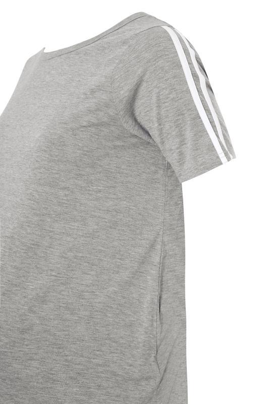 BUMP IT UP MATERNITY Grey Stripe T-shirt & Shorts Set_s.jpg