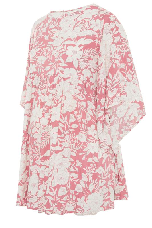 BUMP IT UP MATERNITY Pink Floral Smock Tunic_F.jpg