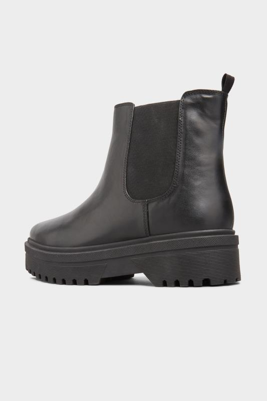 LIMITED COLLECTION Black Vegan Faux Leather Platform Chelsea Boots In Extra Wide Fit_C.jpg