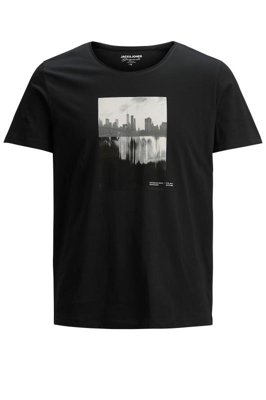 JACK & JONES Black Nobody Graphic Print T-Shirt