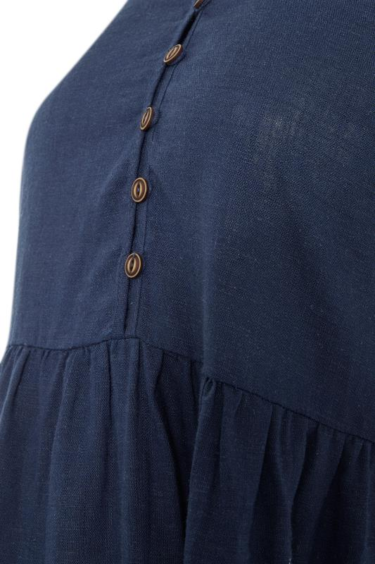 LTS Maternity Navy Linen-blend Dress_S.jpg