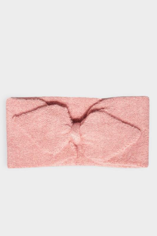 Pink Metallic Bow Knitted Headband_F.jpg