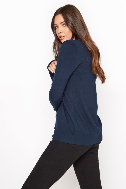 Navy Buttoned Knitted Cardigan_C.jpg