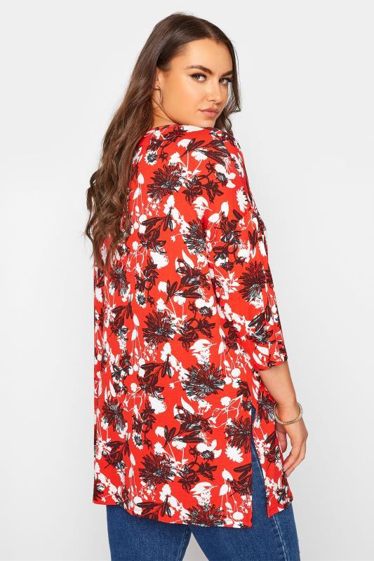 Red Floral Split Hem Tunic_C.jpg