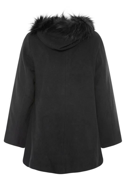 Black Faux Fur Trim Duffle Coat_BK.jpg
