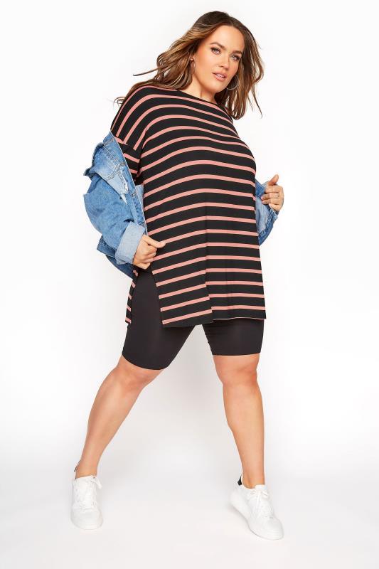 Black Oversized Stripe T-Shirt_B.jpg