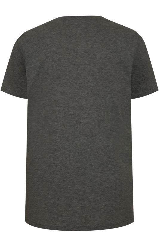 BadRhino Charcoal Grey Embroidered Logo T-Shirt