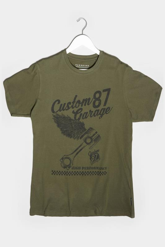Men's Beauty BadRhino Khaki Custom Garage Graphic Print T-Shirt