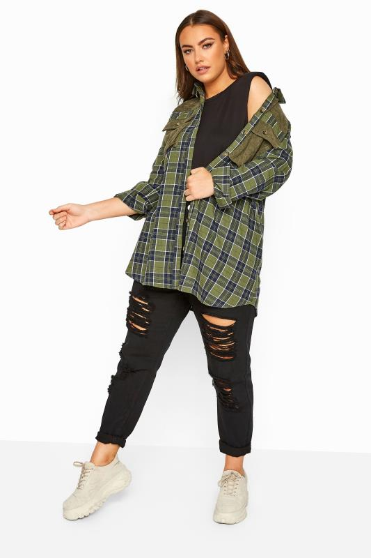 Khaki Cord Check Shirt