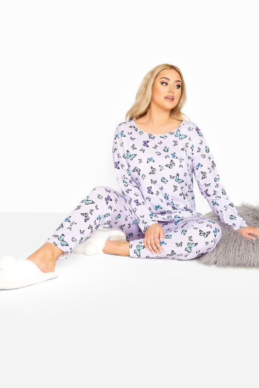 Lilac Butterfly Lounge Set