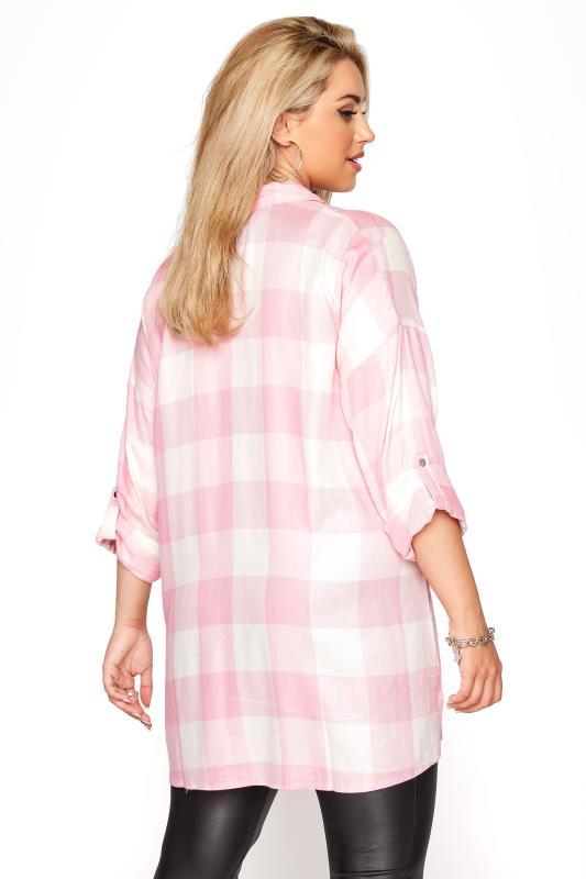 Pink Check Oversized Shirt_C.jpg