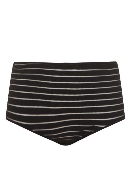 Black Mesh Sheer Stripe High Waisted Briefs_F.jpg