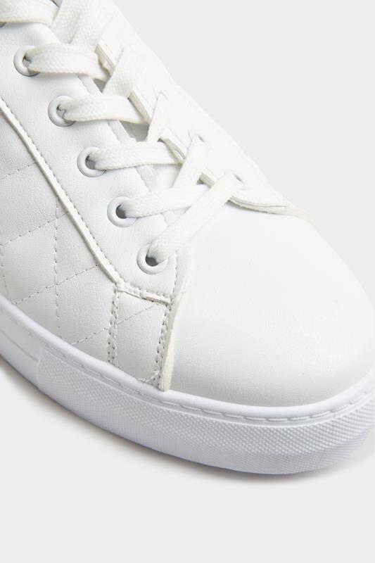 LIMITED COLLECTION White Quilted Trainers In Wide Fit_E.jpg