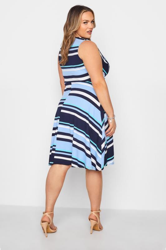 Light Blue Stripe Wrap Skater Dress_C.jpg
