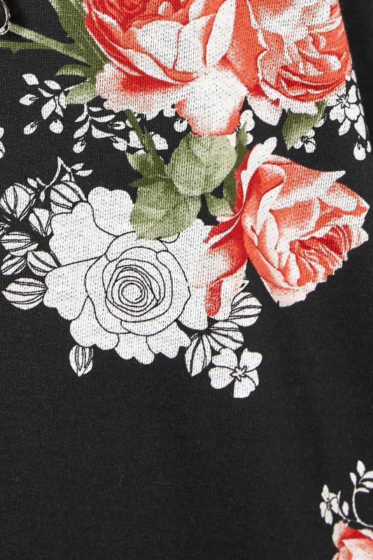 Black Floral Print Hoodie Dress_S.jpg