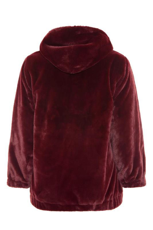 Burgundy Faux Fur Oversized Jacket_BK.jpg