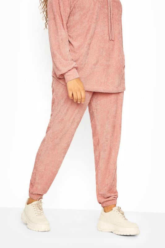Pink Flannel Towelling Co-ord Joggers