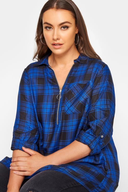 Cobalt Blue Zip Check Shirt_D.jpg