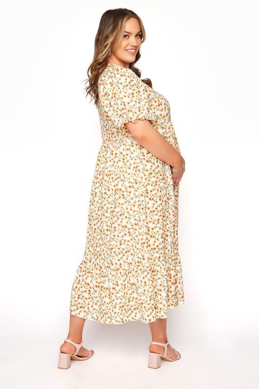 BUMP IT UP MATERNITY Ivory Floral Puff Sleeve Smock Dress_C.jpg
