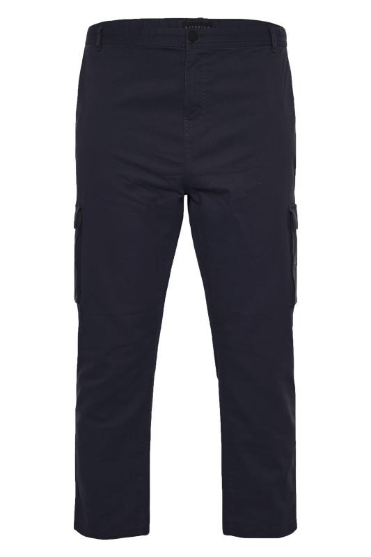 BadRhino Navy Stretch Cargo Trousers_F.jpg