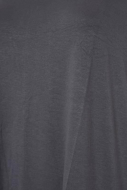 Grey Dipped Hem Short Sleeved T-Shirt_S.jpg