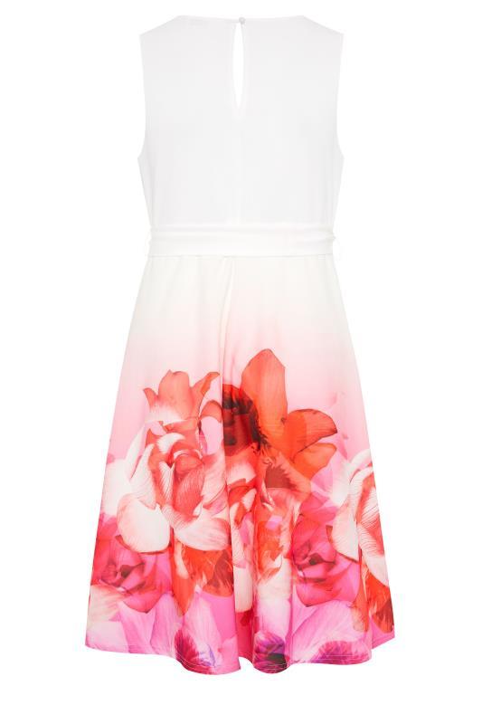 YOURS LONDON Pink Border Floral Skater Dress_BK.jpg
