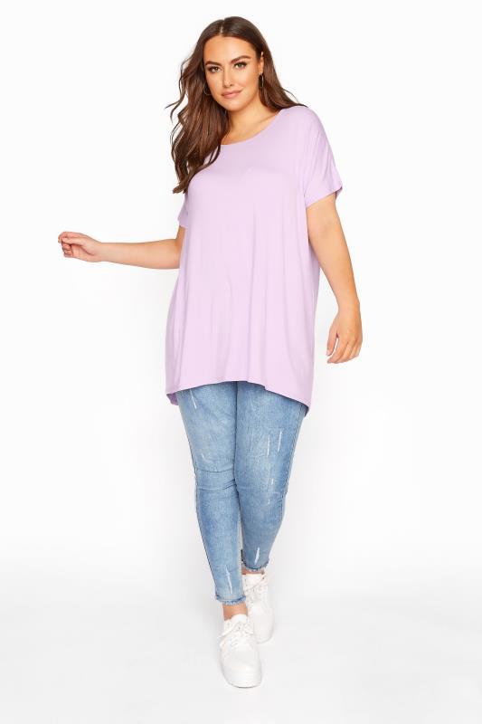 Lilac Grown on Sleeve T-Shirt